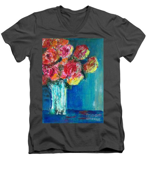 Old Roses Men's V-Neck T-Shirt