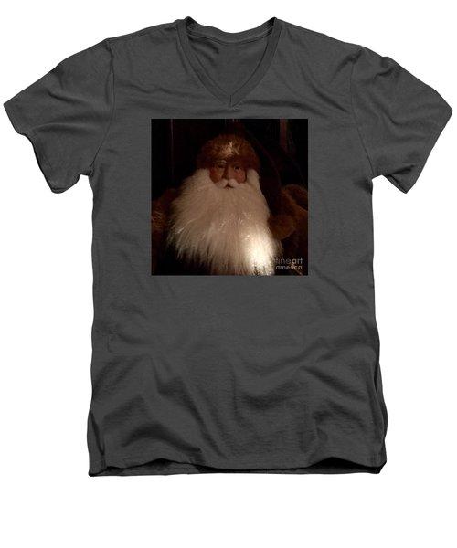 Old Saint Nick Men's V-Neck T-Shirt by Patricia E Sundik