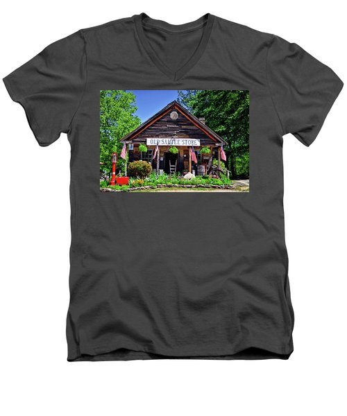 Old Sautee Store - Helen Ga 004 Men's V-Neck T-Shirt