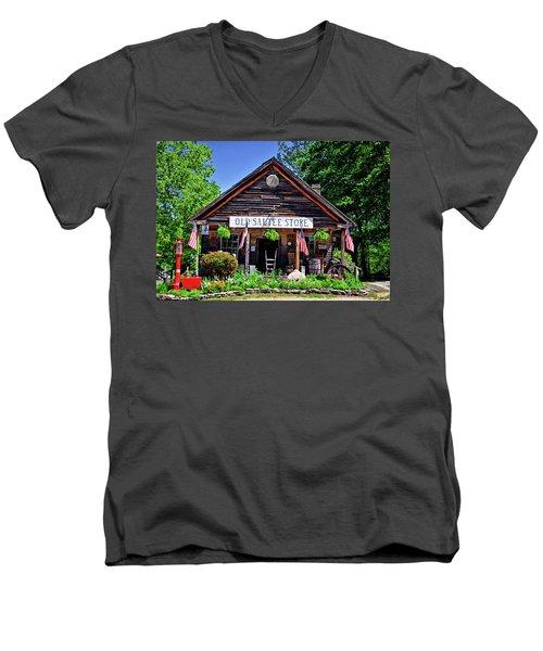 Old Sautee Store - Helen Ga 004 Men's V-Neck T-Shirt