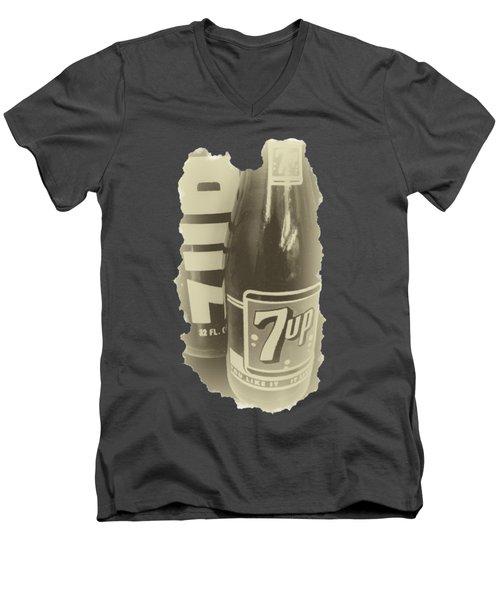 Old School 7up Men's V-Neck T-Shirt