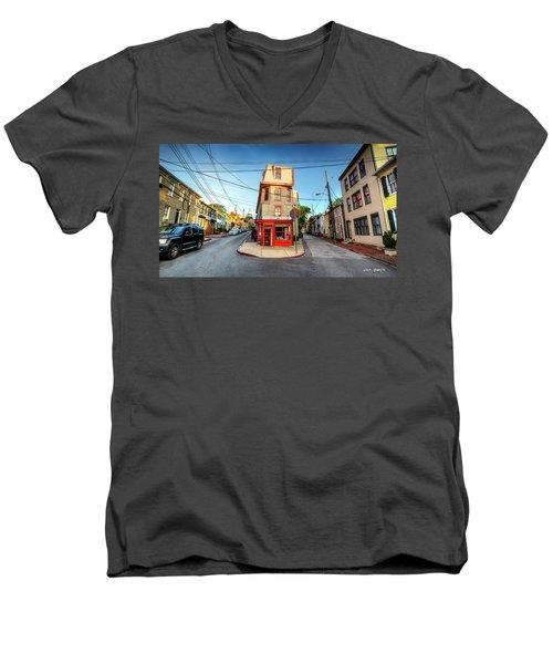 Old School Annapolis Men's V-Neck T-Shirt
