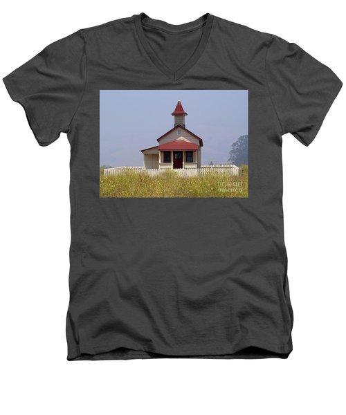 Old School House  Men's V-Neck T-Shirt