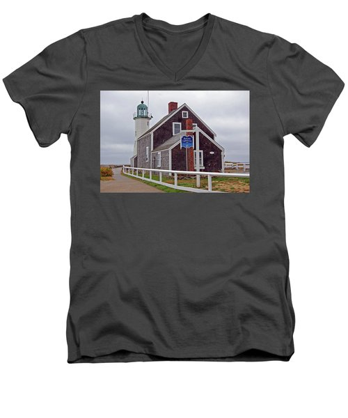 Old Scituate Lighthouse Men's V-Neck T-Shirt