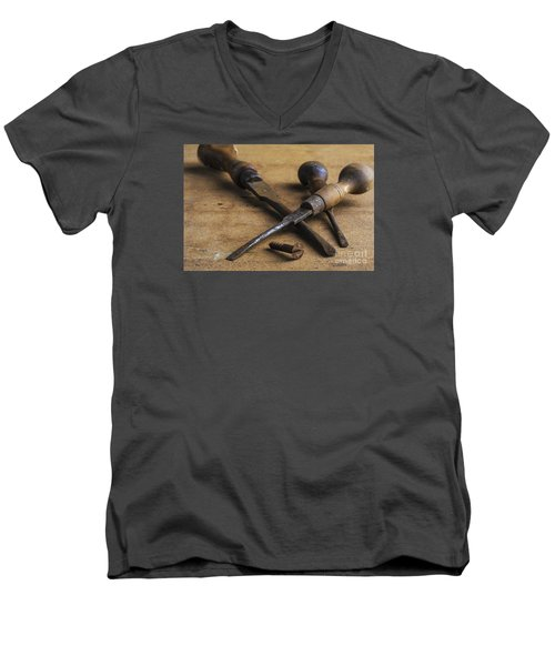 Men's V-Neck T-Shirt featuring the photograph Old Screwdrivers by Trevor Chriss