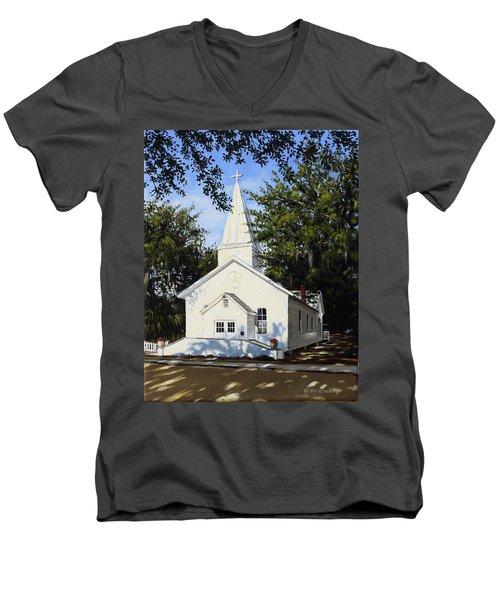 Old St. Andrew Church Men's V-Neck T-Shirt by Rick McKinney