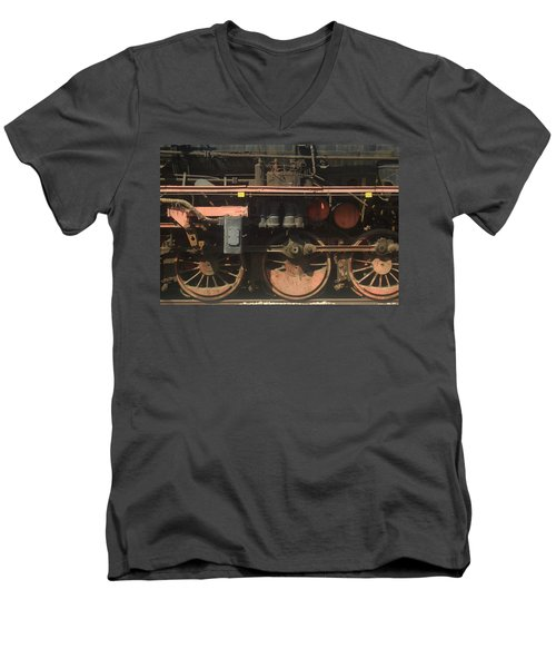 Old  Steam Train ...france Men's V-Neck T-Shirt