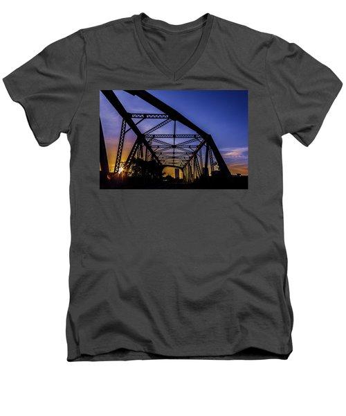 Old Steel Bridge Men's V-Neck T-Shirt