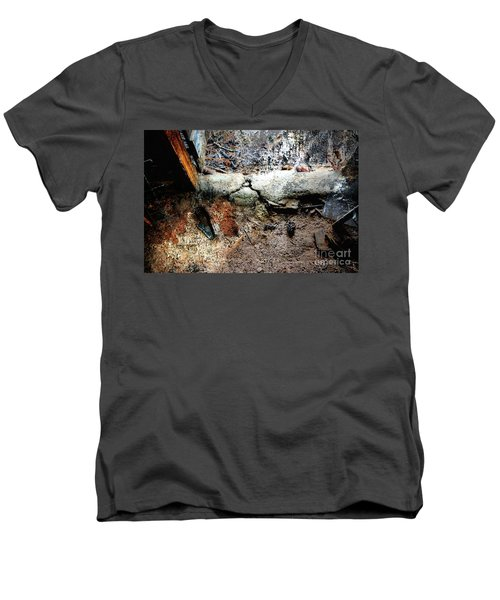 Old Threshold Paint Men's V-Neck T-Shirt by Deborah Nakano