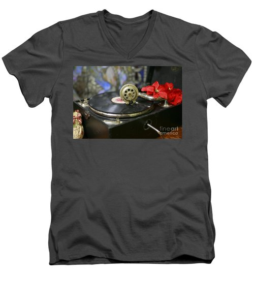 Men's V-Neck T-Shirt featuring the photograph Old Time Photo by Lori Mellen-Pagliaro