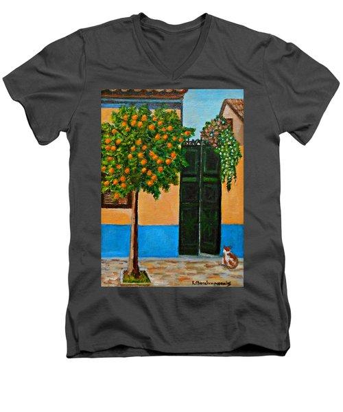 Old Times Neighborhood Men's V-Neck T-Shirt
