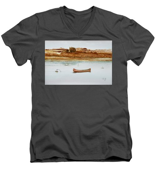 Old Town Canoe Menemsha Mv Men's V-Neck T-Shirt