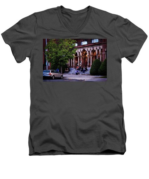 Men's V-Neck T-Shirt featuring the photograph Old Town Hall In The Summer by Sven Kielhorn