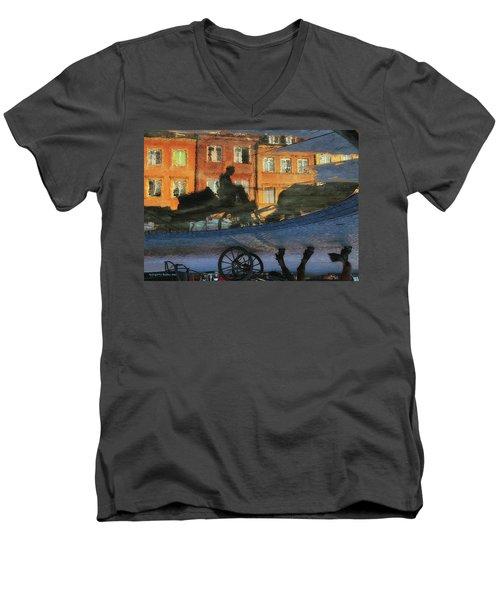 Old Town In Warsaw #12 Men's V-Neck T-Shirt