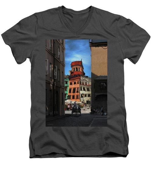Old Town In Warsaw #14 Men's V-Neck T-Shirt