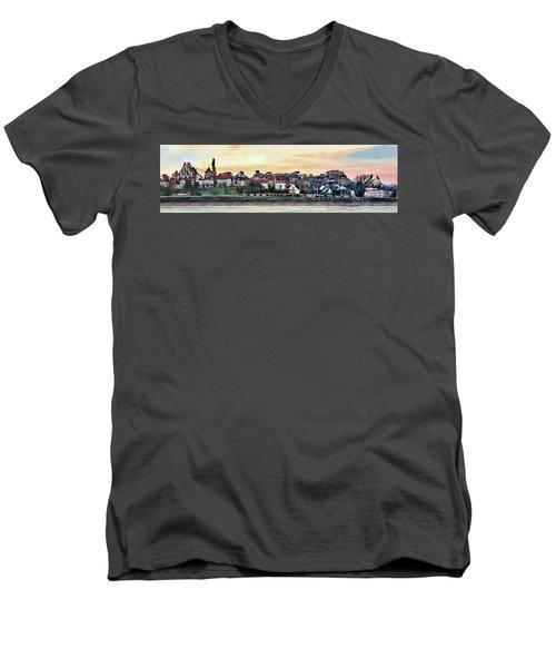 Old Town In Warsaw #16 Men's V-Neck T-Shirt