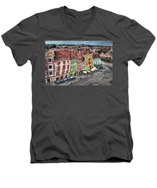 Old Town In Warsaw #20 Men's V-Neck T-Shirt