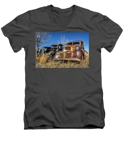 Old Trucks Men's V-Neck T-Shirt