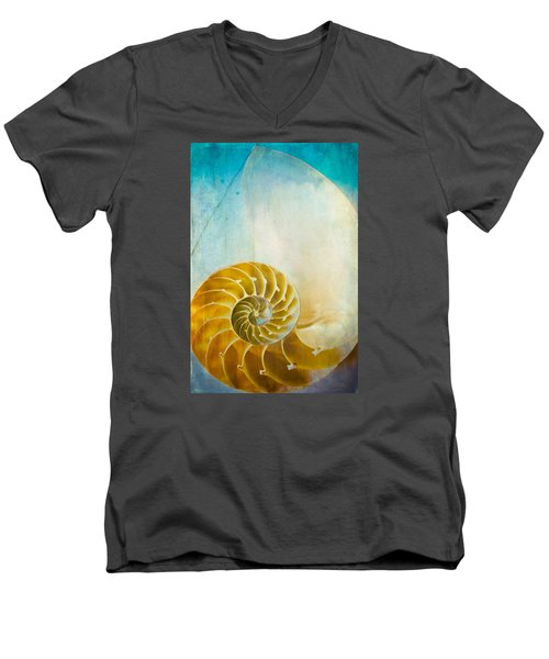 Old World Treasures - Nautilus Men's V-Neck T-Shirt by Colleen Kammerer