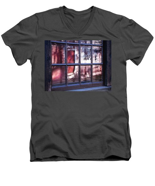 Olde Glass Men's V-Neck T-Shirt by Betsy Zimmerli