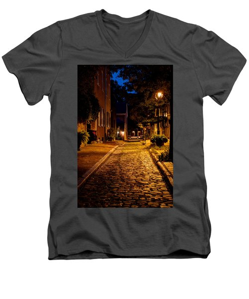 Olde Town Philly Alley Men's V-Neck T-Shirt
