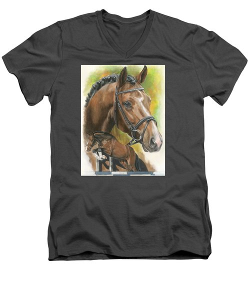Men's V-Neck T-Shirt featuring the painting Oldenberg by Barbara Keith