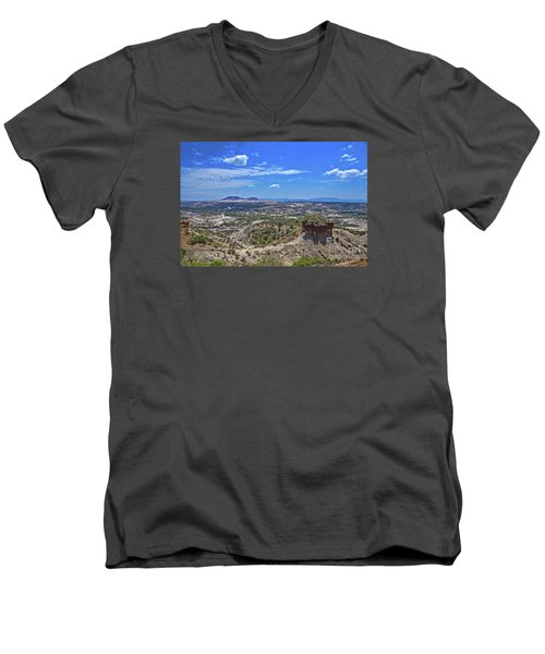 Men's V-Neck T-Shirt featuring the photograph Olduvai Gorge - The Cradle Of Mankind by Pravine Chester