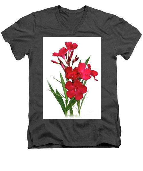 Oleander Emile Sahut 2 Men's V-Neck T-Shirt by Wilhelm Hufnagl