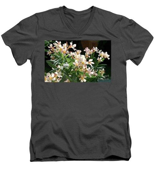 Oleander Petite Salmon 3 Men's V-Neck T-Shirt by Wilhelm Hufnagl
