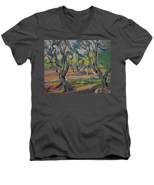 Olive Yard Paxos Greece Men's V-Neck T-Shirt
