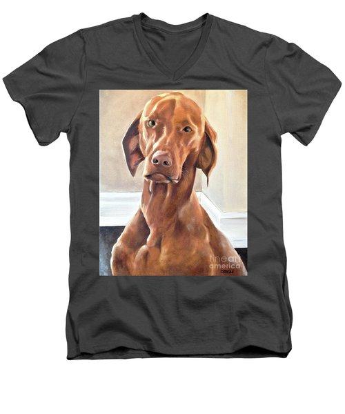 Oliver Men's V-Neck T-Shirt by Diane Daigle