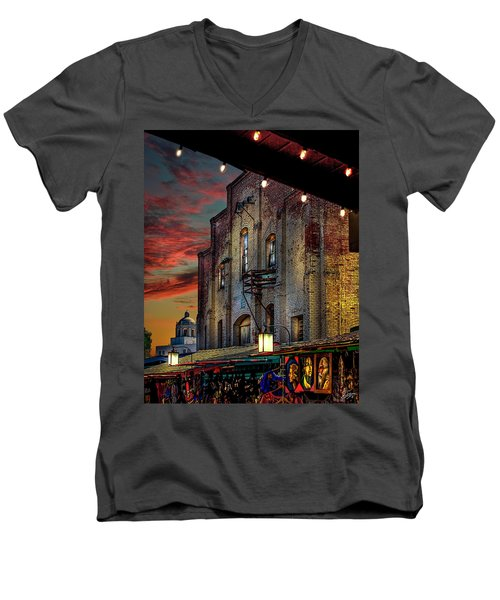 Olvera Street Market Men's V-Neck T-Shirt