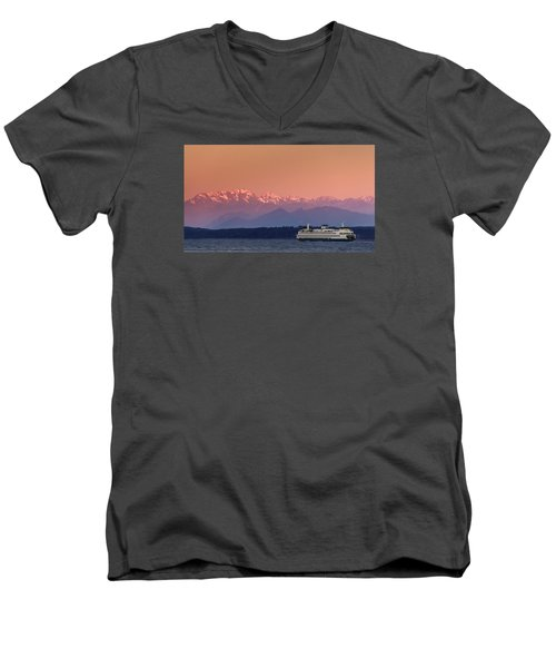 Men's V-Neck T-Shirt featuring the photograph Olympic Journey by Dan Mihai