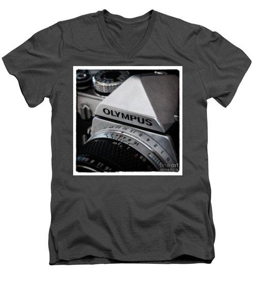 Men's V-Neck T-Shirt featuring the photograph Om-1 - D010028b by Daniel Dempster