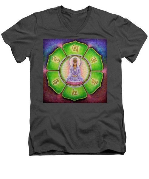Om Mani Padme Hum Kuan Yin Men's V-Neck T-Shirt