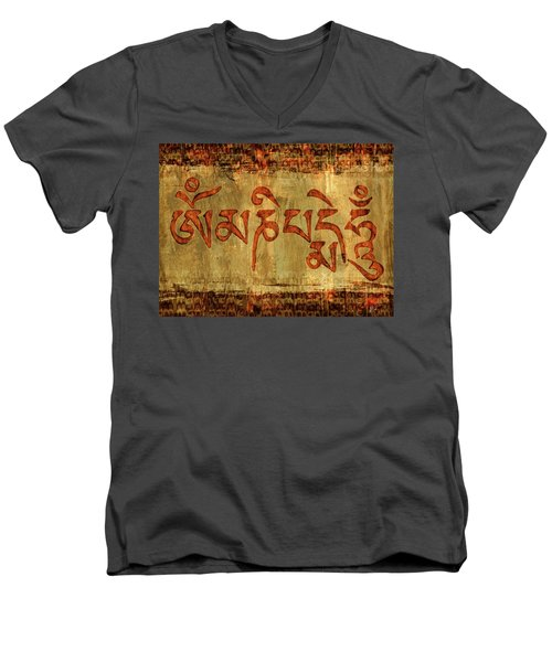 Om Mani Padme Hum Men's V-Neck T-Shirt