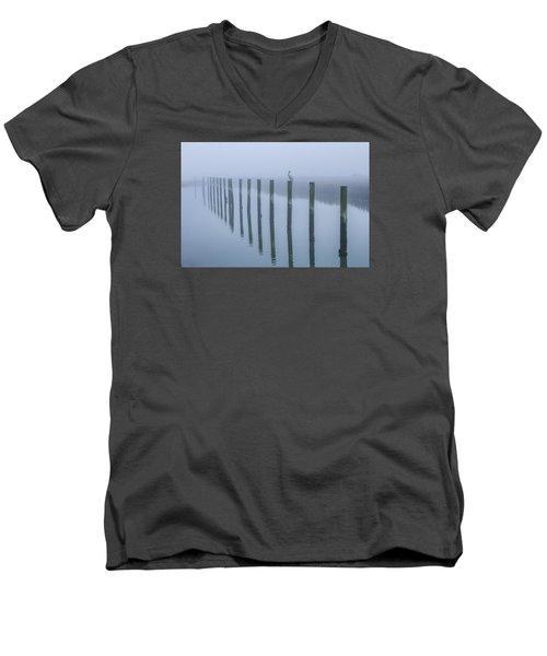 On The Pole Men's V-Neck T-Shirt by Menachem Ganon