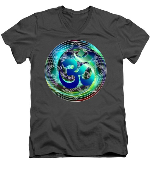 Om Vibration Ocean Men's V-Neck T-Shirt