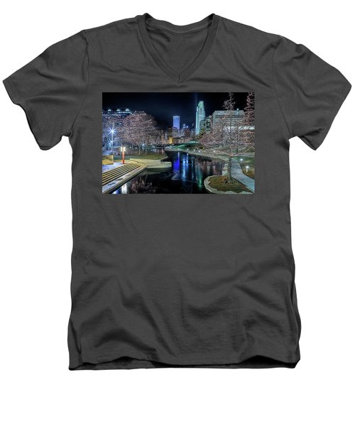 Omaha Holiday Lights Festival Men's V-Neck T-Shirt