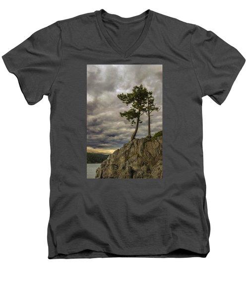 Ominous Weather Men's V-Neck T-Shirt by Ed Clark