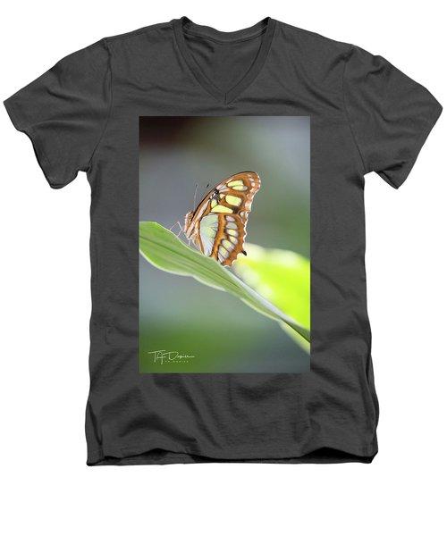 On A Leaf Men's V-Neck T-Shirt