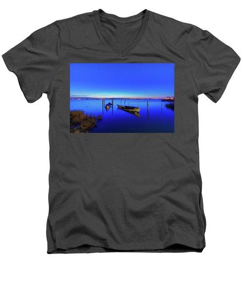 On A Mirrors Edge Men's V-Neck T-Shirt