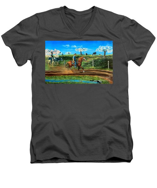 On A Spring Morning Men's V-Neck T-Shirt by Ruanna Sion Shadd a'Dann'l Yoder