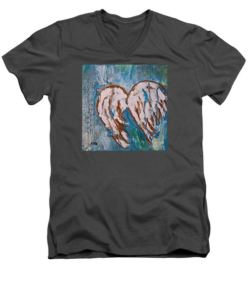 On Angel Wings Men's V-Neck T-Shirt