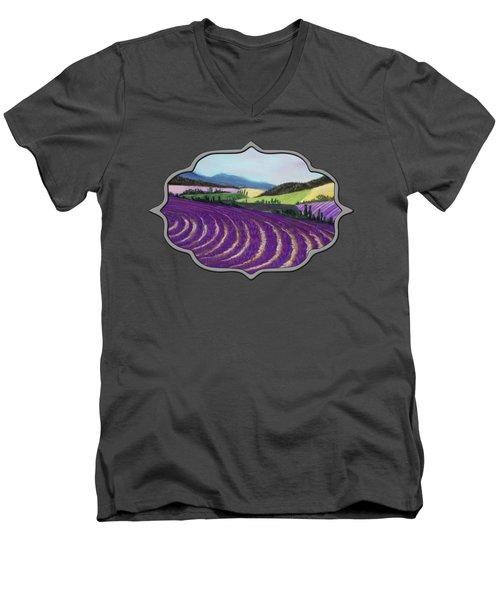 On Lavender Trail Men's V-Neck T-Shirt