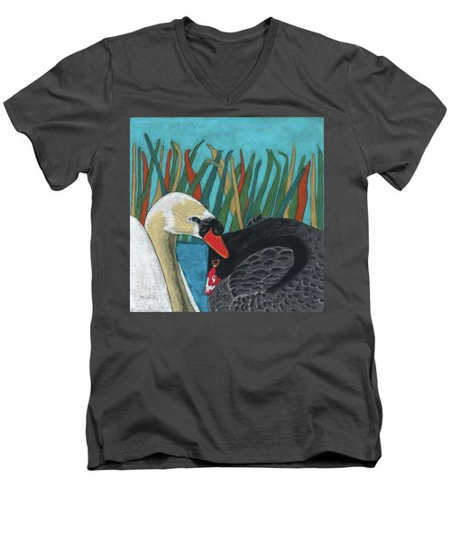 On Peaceful Pond Men's V-Neck T-Shirt