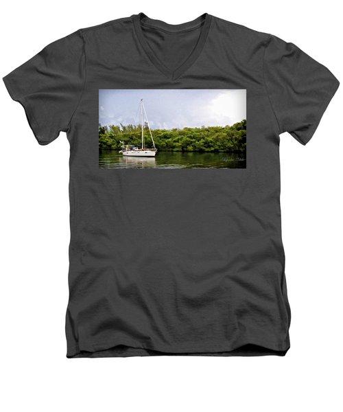 On Quiet Waters Men's V-Neck T-Shirt