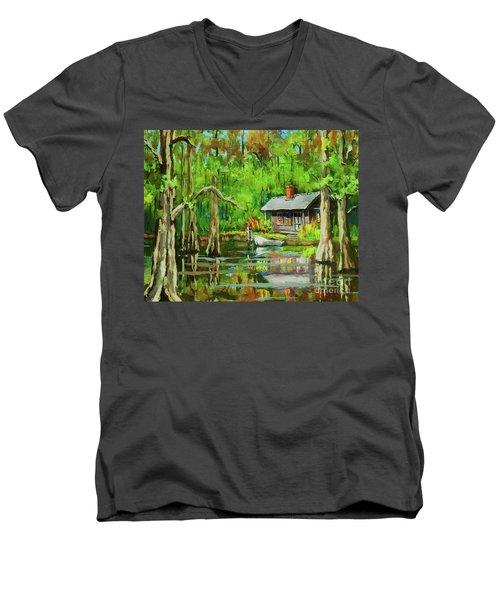 On The Bayou Men's V-Neck T-Shirt
