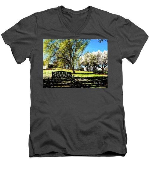 On The Bench Men's V-Neck T-Shirt