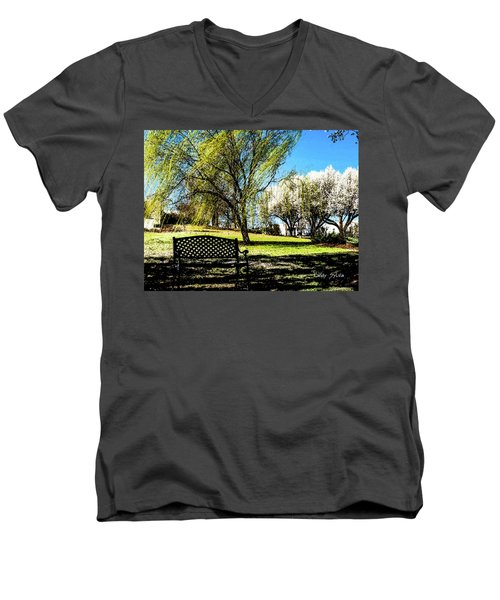 On The Bench Men's V-Neck T-Shirt